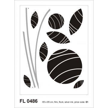 wall sticker figurative design black and gray from Sanders & Sanders