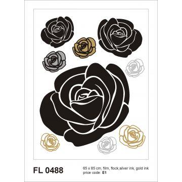 wall sticker flowers black, gray and beige from Sanders & Sanders