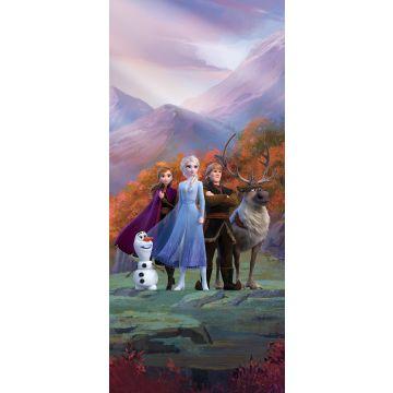 poster Frozen purple, blue and orange from Sanders & Sanders