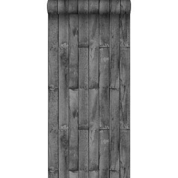 wallpaper wood effect dark gray from Sanders & Sanders