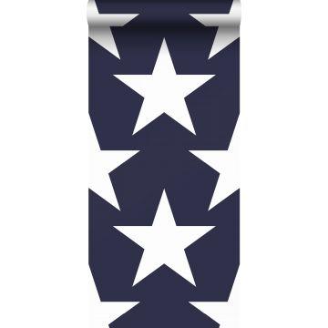wallpaper stars navy blue from Sanders & Sanders