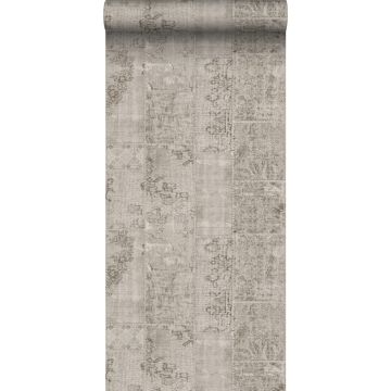 wallpaper patchwork kilim taupe from Sanders & Sanders