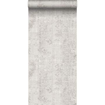 wallpaper patchwork kilim light gray from Sanders & Sanders